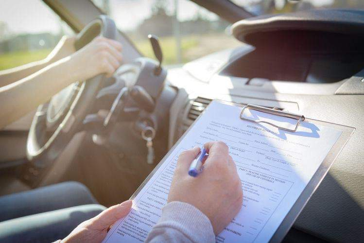 a driving test